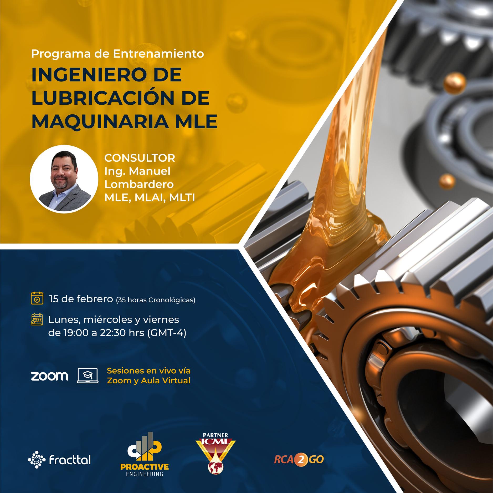 Programa de Entrenamiento MLE - Ingeniero en Lubricación de Maquinaria